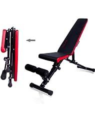 CCLIFE Banco de Musculación Multiposición Banco de Fitness o de Abdominales Ajustable,Plegable y Resistente