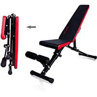 CCLIFE Banc de Musculation Pliable- Banc haltérophilie - Banc abdominaux Pliable - Banc muscu - Banc Abdo - Banc Musculation inclinable - Charge maximale 330kg