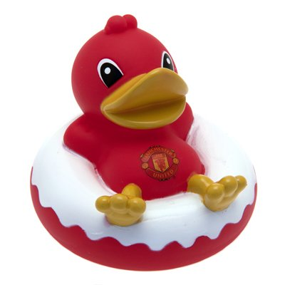 Manchester United Fc Rubber Dinghy Duck Bath Toy Man Utd