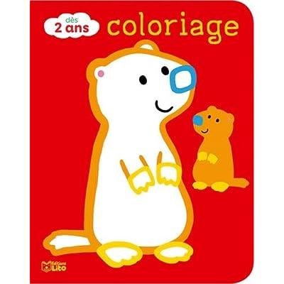 Coloriages pour les tout-petits: Les animaux de la montagne - Dès 2 ans