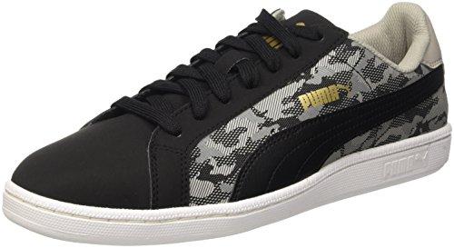 Puma Smash Buck Camo, Sneaker Man (Gymnastics), Nero/Drizzle, 8 EU