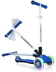 globber My Free Fold Up SL con luces en las ruedas, 3de Wheels BI de Inject Scooter, color azul/gris, talla única