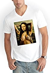 Idea Regalo - Tattoo Mona V-Neck T-Shirt Bianco-S