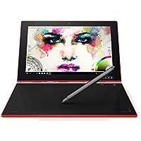 Lenovo Yoga Book 25,5 cm (10,1 Zoll Full HD IPS Touch) Convertible Tablet-PC (Z8550 Quad-Core, 4GB RAM, 128GB eMMC, Wi-Fi, Windows 10 Pro) rot inkl. Halo Tastatur und Real Pen
