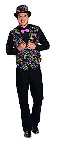 Freaky Dandy Weste Farbenweste Bunt Dandykostüm Kostüm für Herren (Kostüm Les Dandys)
