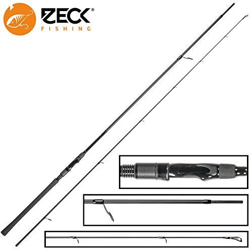 Zeck All Black Rute 2,40m 40g - Spinnrute zum Spinnangeln auf Zander & Barsche, Raubfischrute, Zanderrute, Barschrute, Angelrute