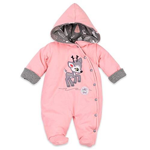 Koala Baby Winter Overall Mädchen | Farbe: rosa | Baby Schneeanzug mit Kapuze für Neugeborene & Kleinkinder | Größe: 12 Monate (80)