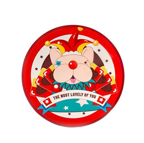 NLYR-Pet Mat Hundetraining Mat Runde Haushalt Pad Atmungsaktive wasserdichte Pet Bowl Fütterung Tischset, Rot,M