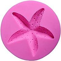FLAMEER 1 Pieza Molde de Silicona Novedoso Estrella de Mar Fondant para Obsequio de Caramelos Adornado