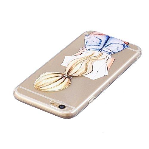 iPhone 6 Hülle, Voguecase Silikon Schutzhülle / Case / Cover / Hülle / TPU Gel Skin für Apple iPhone 6/6S 4.7(Corgi) + Gratis Universal Eingabestift Blondes Mädchen