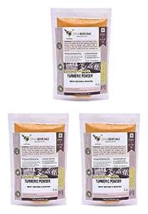 Jivabhumi Certified Organic Turmeric Powder, 300 Gm (Combo of 3)