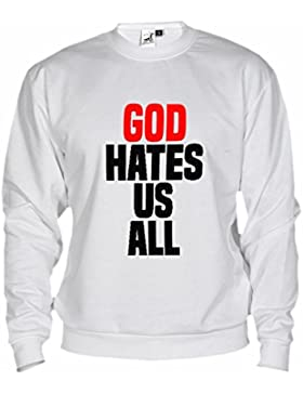Felpa Unisex Californication God Hates Us All By Bikerella