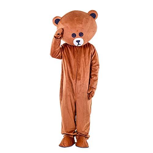 I BIMS-LICHT China bär-Kostüm, Ganzkörper Tier-Kostüme, Tier-Kostüme, Geschenk Erwachsene, 155-185cm, Verkleidung, Karneval, Halloween, Fasching, Geburtstags-Geschenk (B, - Teddybär Maskottchen Kostüm
