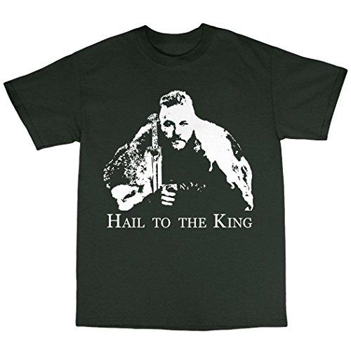Ragnar Lothbrook Vikings Inspired T-Shirt Baumwolle Waldgrün