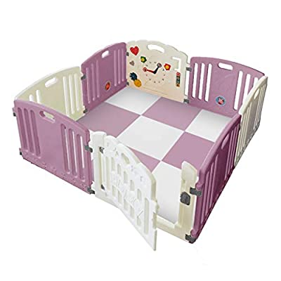 Venture All Stars Duo Baby Playpen Pink