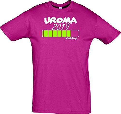 Unbekannt Cooles T-Shirt mit Druck/UROMA 2019 Loading/Farbe: Pink/Größe: XL