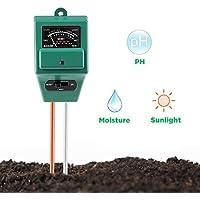 Surenhap PH-mètre de sol, capteur d'humidité 3-en-1 / Test de lumière solaire / pH du sol, fonction de test pour la maison et le jardin, plantes, ferme, utilisation intérieure / extérieure. (PH-mètre du sol 3-en-1)