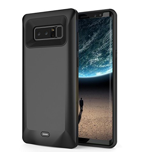 Becho per Galaxy Note 8 Custodia Caricabatterie, Batteria 5500 mAh Ricaricabile Slim estesa Custodia, Batteria Portatile Esterna Power Bank Ricarica Custodia Cover per Samsung Galaxy Note 8 (Nero)