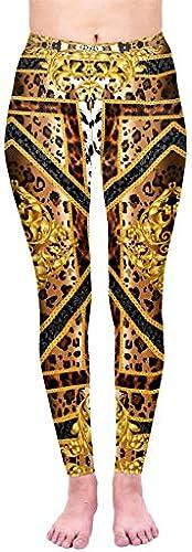 Kukubird Printed Leopard Patterns Yoga Leggings für Frauen Gym Fitness Laufhose Größe 6-10 Dehnbar