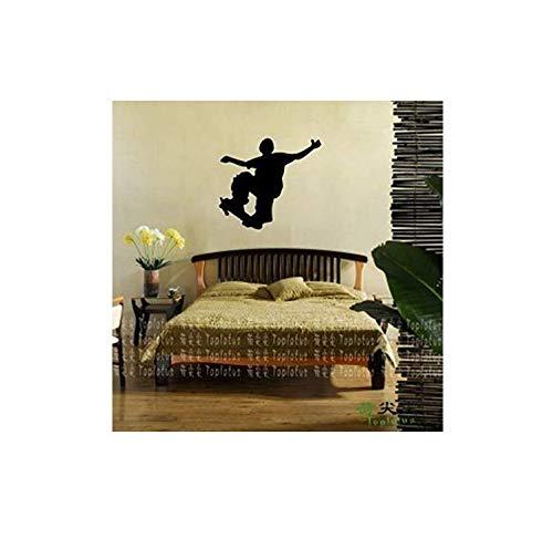 Wandaufkleber Sliding Platte Roller Skating Skate Aufkleber Sport Aufkleber Kinderzimmer Namen Poster Vinylwand - Abziehbild - Aufkleber 65 * 58cm Alphabet animals für Schlafzimmerwand -