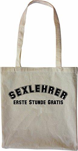 Mister Merchandise Bag Sex Teacher - Borsa Di Stoffa Gratuita Prima Ora, Colore: Natura Nera