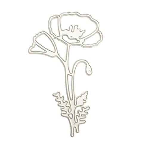 Ruda Formen Schablone Poppy Flower Scrapbooking Prägung Album Papier Card Craft