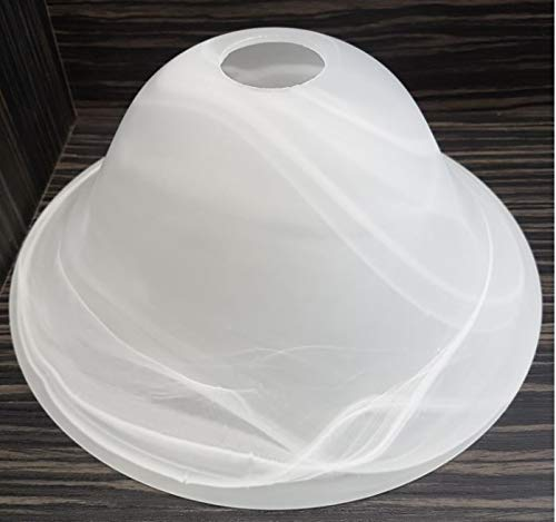 Glas Lampenschirme Stehlampen (Lampenschirm Lampenglas Leuchtenglas Ø262mm - E27 Glockenform alabasterfarbig weiß)