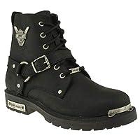 Jump 14508 B Siyah%100 Deri Motorcu Çizme Erkek Bot Ayakkabı