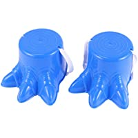 TOYANDONA 2 Piezas Zancos de Cubo, Juguete de Equilibrio para Pies de Dinosaurio de Plástico para Niños (Azul / 6. 1X4. 7 Pulgadas)