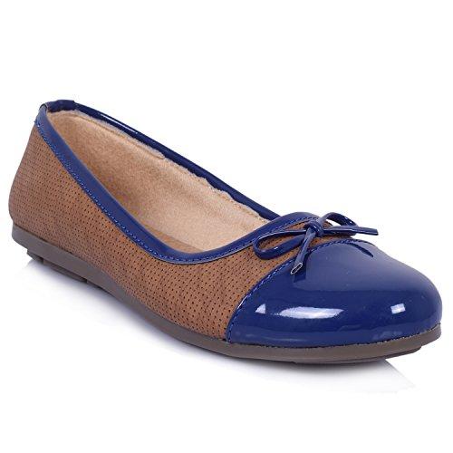 Soouzo Sikan Women's Sole Happy Ballerina Walking Flats Blue Shoes