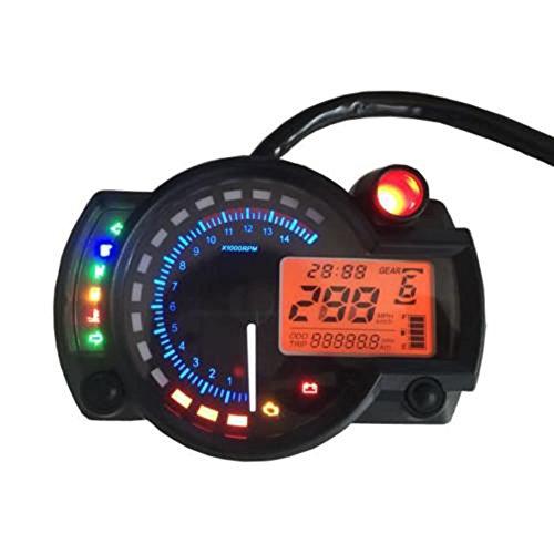 ConPush 299km/h Tachometer Speedometer mit LCD Digital für Motorrad