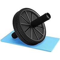Reehut Roue abdominaux AB Rollel/Wheel avec Tapis épais pour Genoux Pro de Fitness et Musculation de Corp-Appareil Abdominal Roller