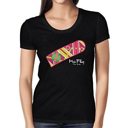 Texlab Damen McFly Pro Series Hoverboard T-Shirt, Schwarz, XL