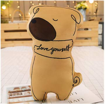 Soft Cute Cartoon Animal Dog Pillow Plush Fabric Toy Doll Big Bear Cushion Sofa Backrest Brown Dog Section 45Cm