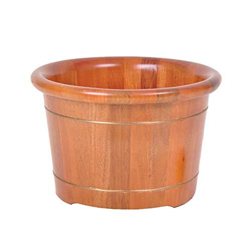 NUBAOgy Erwachsene Mahagoni Tränken Fuß Barrel Fußbad Holz Fuß Becken Pediküre Bowl Spa Massage Familie Gesundheit Pflege Geschenke (größe : 21cm) - Mahagoni-bad
