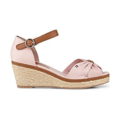 45b5072c9 Tommy Hilfiger Women s Fashion Sandals Pink Pink  Amazon.co.uk  Shoes   Bags