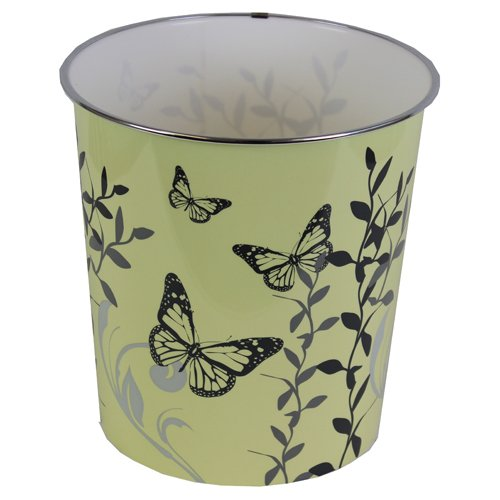 JVL 25 x 26.5 cm Plastic Butterfly Home Novelty Waste Paper Bins, Cream by JVL (Paper Butterfly)