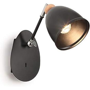 Noir Métal Murale Réglable Applique Lampe Vintage EI2YW9eDH