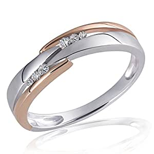 Goldmaid Damen-Ring 925 Sterlingsilber 6 weiße Diamanten (0.07 ct)