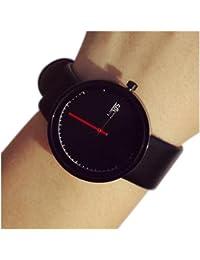 Couple Watch - TOOGOO(R)Fashion Unisex Male Female Couple Watch Quartz Analog Gift Watch Black
