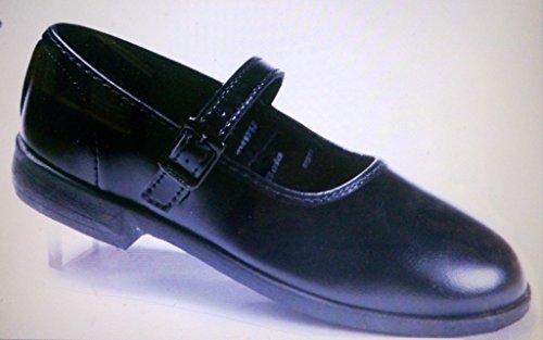 Bata Girls Black All Season Ballerina School Shoes with Buckle