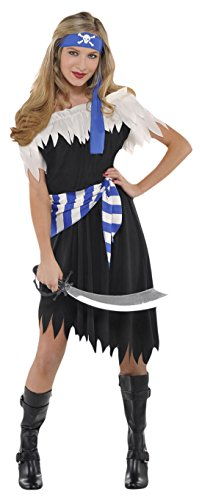 Karnevalsbud - Mädchen PIratinnen Kostüm, Karneval, Fasching, Halloween, Mehrfarbig, Größe 164-176, 14-16 Jahre