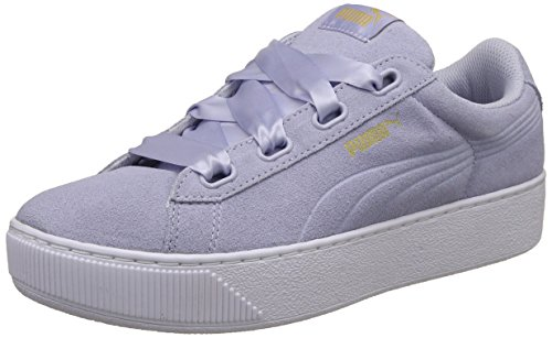 PUMA scarpe donna sneakers basse 364979 03 PUMA VIKKY PLATFORM RIBBON taglia 41 Celeste