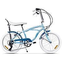 Ape Rider Urbano City Bike para Adulto - 7 Velocidad Cruiser - Altura Recomendada 140-170 cm (azul)