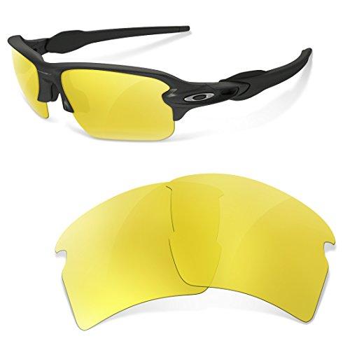 sunglasses restorer Kompatibel Ersatzgläser für Oakley Flak 2.0,Yellow Special for Cloudy Days