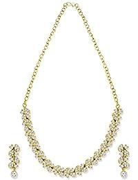 Zaveri Pearls Jewellery Set For Women (Gold, White) (ZPFK5361)