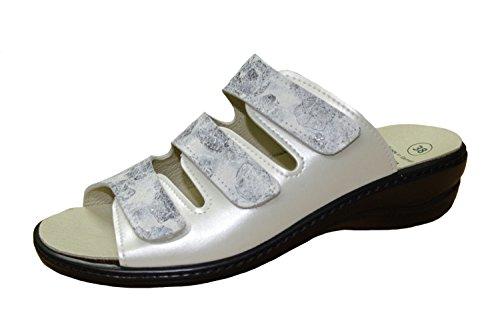 Femmes Mules ALGEMARE cuir blanc taille échangeables 36 à 41 weiß