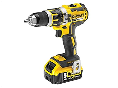 DeWalt DCD795P2-GB 18V XR Brushless Compact Lithium-Ion Combi Drill with 2 x 5Ah Batteries by DEWALT