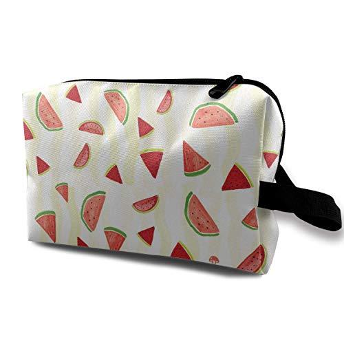 Reisemake-up Kosmetiktasche Bürstentasche Rote Wassermelone Reißverschluss Stift Veranstalter Tragetasche Kosmetiktasche