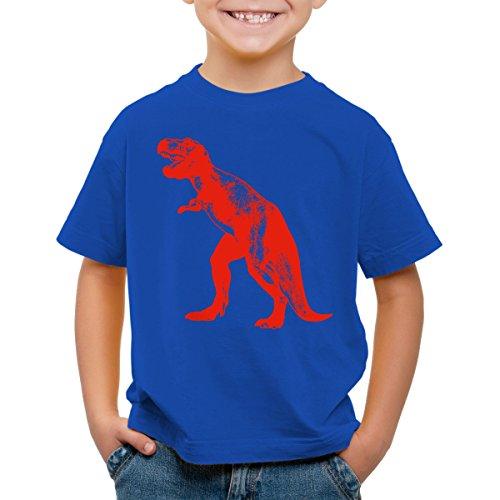 style3 Sheldon Dinosaurio Camiseta para Niños T-Shirt, Color:Azul;Talla:116